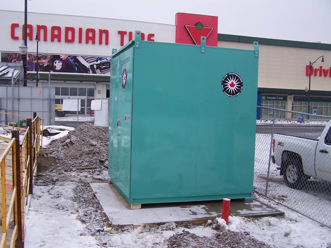 Temporary power supply at Canadian Tire