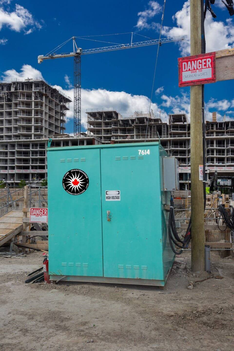 Temporary power supply at a construction site