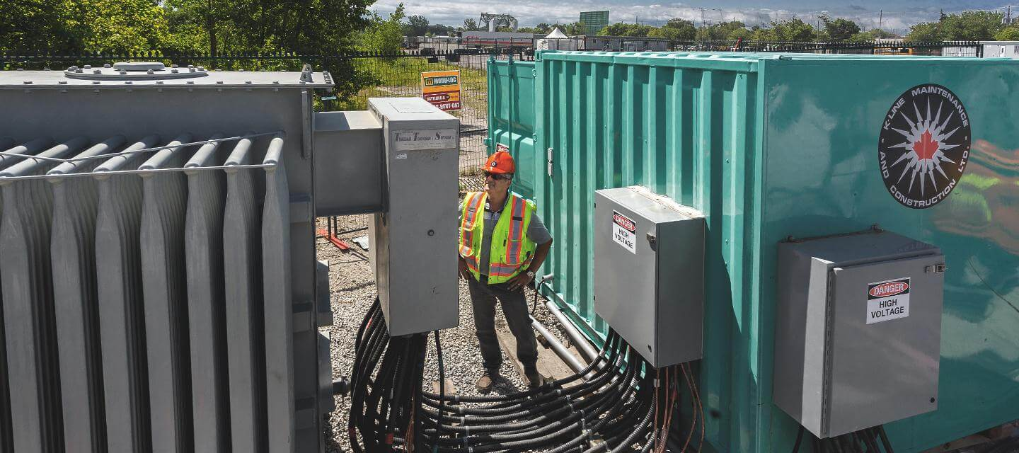Employee monitoring temporary power unit