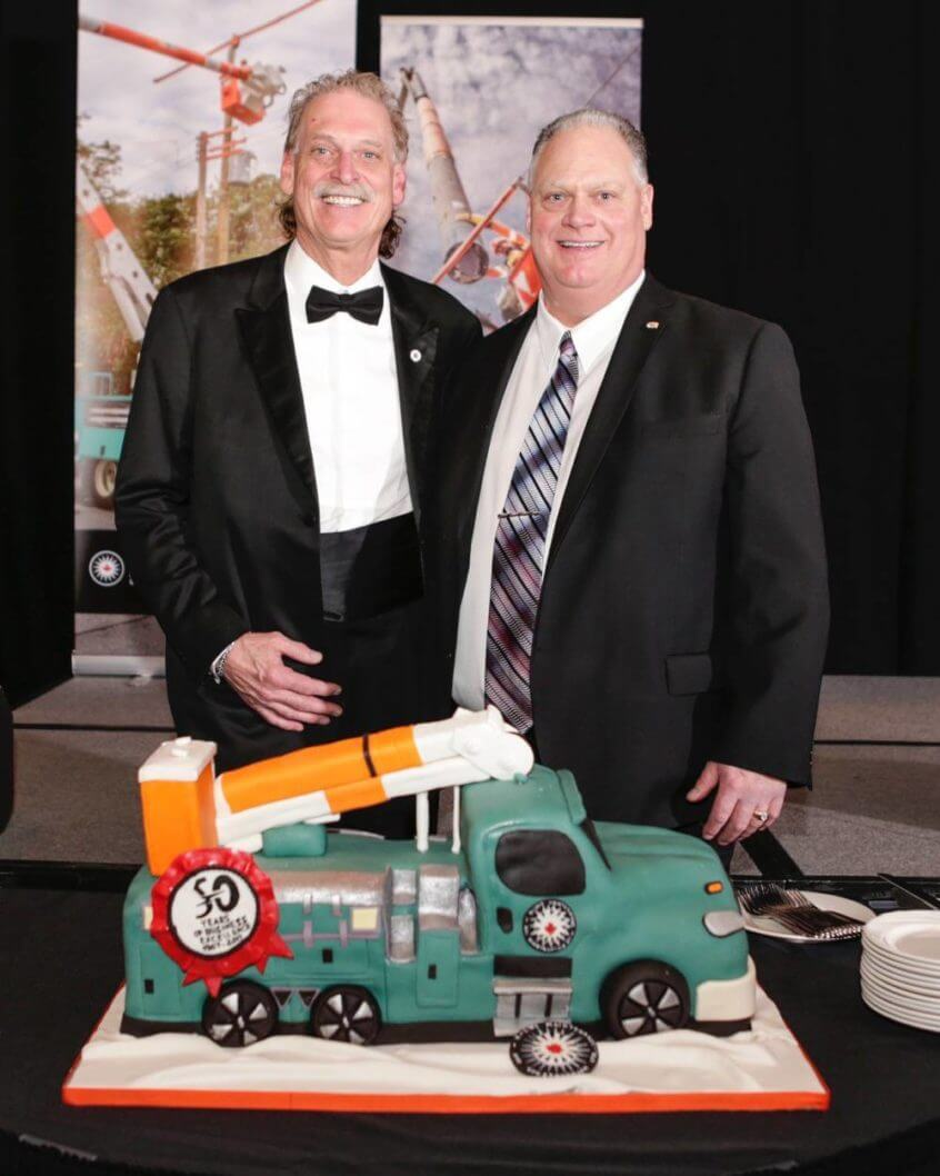 Mark and Allan Kellett with a K-Line truck cake