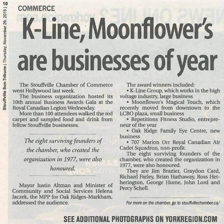 K-Line newspaper article