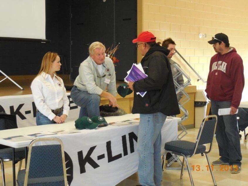 K-Line at the job fair