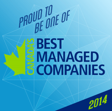 """Proud to be one of Canada's Best Managed Companies 2014"" graphic"