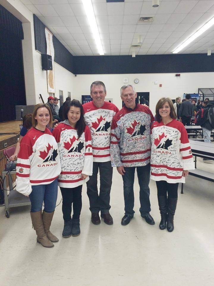"Donning our ""Jerseys of Courage"" at Judith Nyman Secondary School"