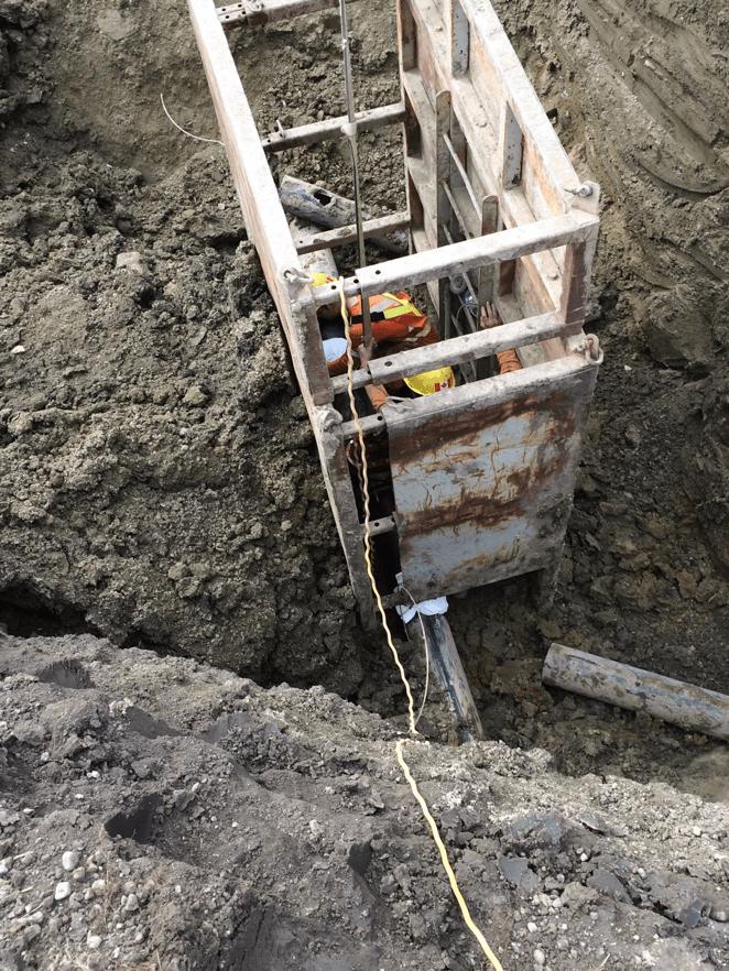 Rockyford Water Pipeline install